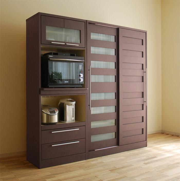 食器棚 レガロ ブラウン色  タモ材のナチュラル感が人気の食器棚です。 カラーはナチュラルとブラ