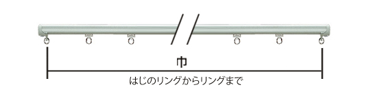 カーテン採寸 機能レールの計り方