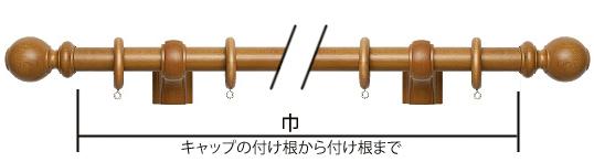 カーテン採寸 装飾レールの計り方